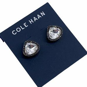 Cole Haan Trilliant Gold Toned Black Earrings